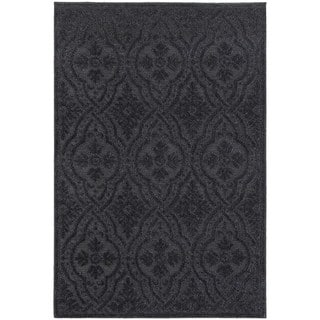 Jacquard Luxe Navy/ Blue Rug (3'10 x 5' 5)|https://ak1.ostkcdn.com/images/products/12353532/P19181502.jpg?impolicy=medium