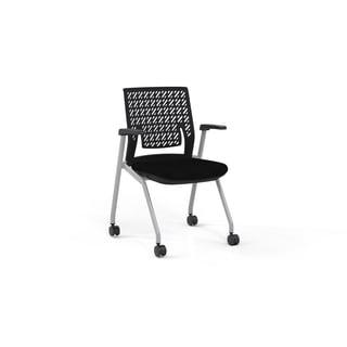 Mayline Thesis Flex-back Black Fabric Seat Training Chair