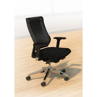 Mayline Living Solid-colored Fabric/Aluminum Ergonomic Task Chair