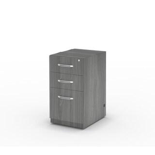 Mayline Aberdeen Series PBF Gray Desk-suspended Pedestal Vertical File Cabinet