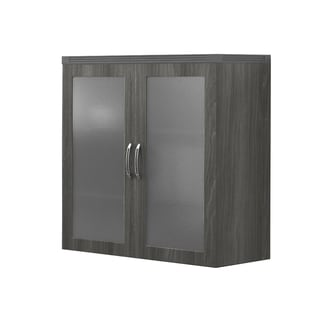 Mayline Aberdeen Series Glass Display Vertical File Cabinet