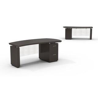 "Mayline Sterling 72""W Single Pedestal Right Handed Desk with File/File Pedestal"