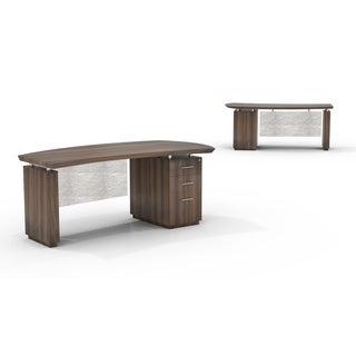 Mayline Sterling Series 72-inch Right-handed Box File Pedestal Desk
