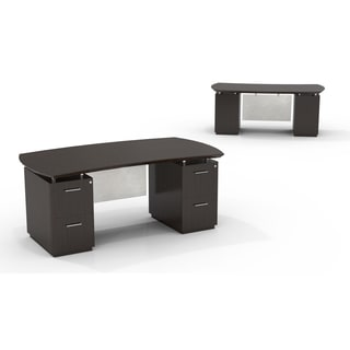Mayline Sterling Series 72-inch Wide Double-pedestal Desk