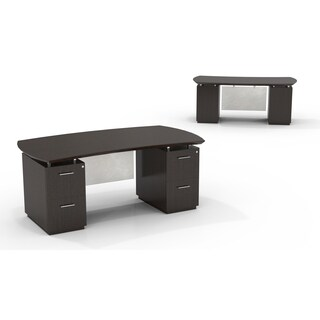 """Mayline Sterling 72""""W Desk with Double Pedestals, Box/Box/File and File/File"""