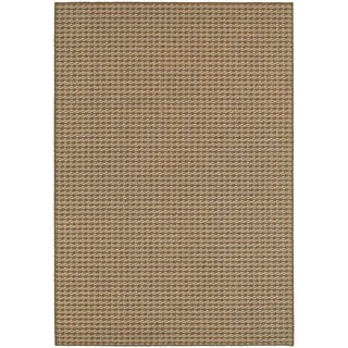 StyleHaven Solid Brown/ Sand Indoor-Outdoor Area Rug (3'3x5')