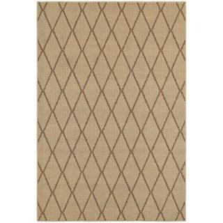 """StyleHaven Lattice Beige/ Sand Indoor-Outdoor Area Rug (3'3x5') - 3'3"""" x 5'"""