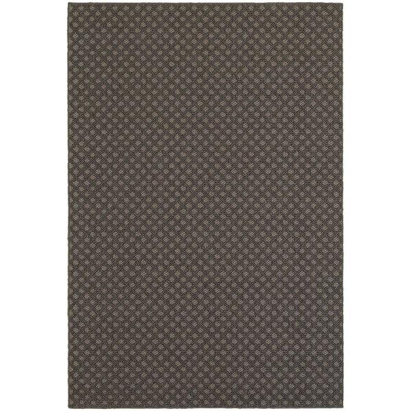 Stylehaven Lattice Grey Charcoal Indoor Outdoor Area Rug