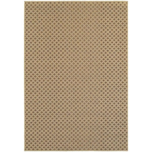 StyleHaven Lattice Brown/ Sand Indoor-Outdoor Area Rug (3'3x5')