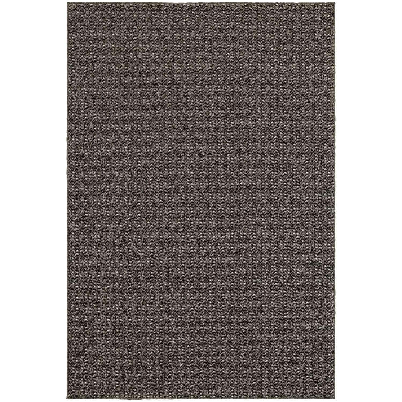 StyleHaven Solid Charcoal/ Grey Indoor-Outdoor Area Rug (3'3x5')