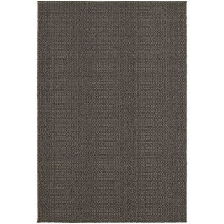 StyleHaven Solid Charcoal/ Grey Indoor-Outdoor Area Rug (3'3x5') - Thumbnail 0