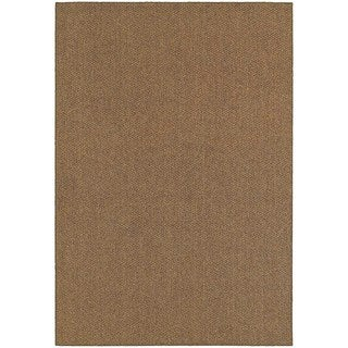 StyleHaven Solid Brown/ Tan Indoor-Outdoor Area Rug (3'3x5')