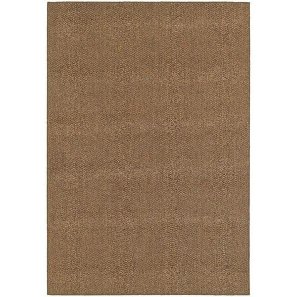 StyleHaven Solid Brown/ Tan Indoor-Outdoor Area Rug (3'3x5')