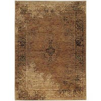 Carbon Loft Upjohn Faded Classic Gold/ Brown Rug - 6'7 x 9'6