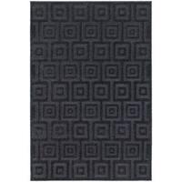 Blockwork Solid Navy/ Blue Rug (6' 7 x  9' 6) - 6'7 x 9'6