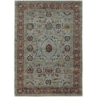 Vintage Dreams Traditional Blue/ Red Rug - 6' 7 x 9' 6