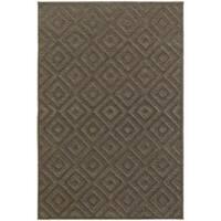 Diamond Plush Brown/ Grey Rug - 6'7 x 9'6