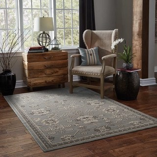 Updated Persian Grey/ Charcoal Rug (5' 3 x 7' 6)