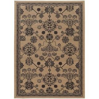 Updated Persian Beige/ Grey Rug (5' 3 x 7' 6)