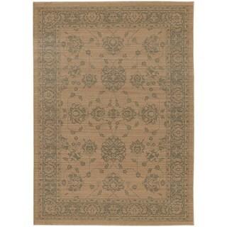 Persian Inspirations Ikat Sand/ Grey Rug - 5'3 x 7'6