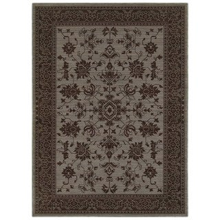 New Traditions Blue/ Grey Rug (6' 7 x 9' 6)