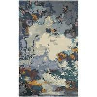 Panacea Abstract Blue/ Grey Rug - 5' x 8'