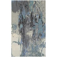 Clay Alder Home Pulp Mill Glacial Abstract Blue/ Grey Rug - 5' x 8'