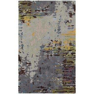 Meld Abstract Multi/ Grey Rug (5' x  8') - 5' x 8'