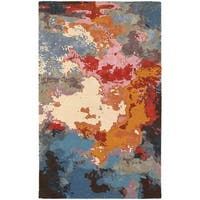 Clay Alder Home Pulp Mill Essence Abstract Multi/ Pink Rug - 5' x 8'