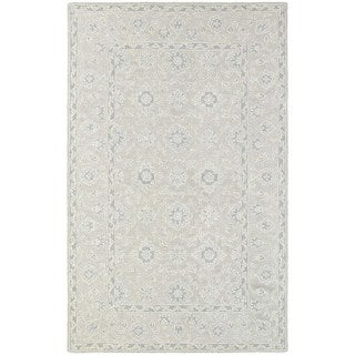 Tone-on-Tone Traditional Loop Pile Beige/ Grey Rug (5' x 8')