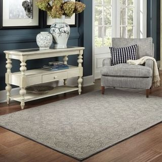 Soothing Traditions Loop Pile Grey/ Stone Rug (5' x 8')