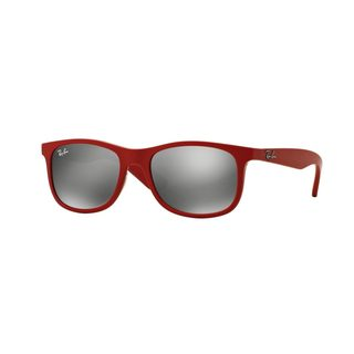 Ray-Ban Junior RJ9062S Red Plastic Rectangle Sunglasses