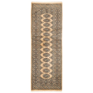 Herat Oriental Pakistani Hand-knotted Bokhara Wool Rug (2' x 5'9)