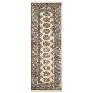Herat Oriental Pakistani Hand-knotted Bokhara Wool Rug (2' x 5'10)
