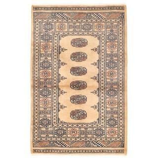Herat Oriental Pakistani Hand-knotted Bokhara Wool Rug (3'1 x 4'9)
