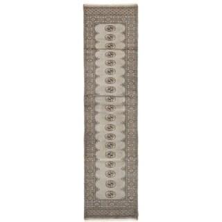 Herat Oriental Pakistani Hand-knotted Bokhara Wool Rug (2'7 x 10'2)