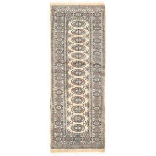 Herat Oriental Pakistani Hand-knotted Bokhara Wool Rug (2' x 5'5)