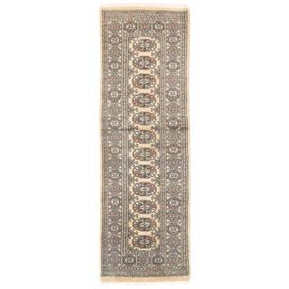 Herat Oriental Pakistani Hand-knotted Bokhara Wool Rug (2' x 6'3)