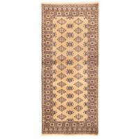 Herat Oriental Pakistani Hand-knotted Bokhara Wool Rug (2'7 x 5'10) - 2'7 x 5'10