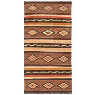 Herat Oriental Afghan Hand-woven Wool Mimana Kilim (5'2 x 10'2)