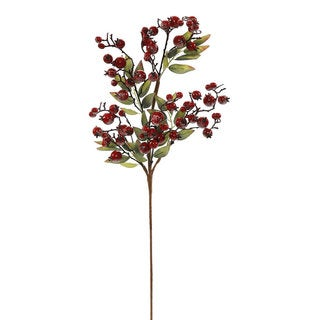 Vickerman 30-inch Red Icy Berry Spray