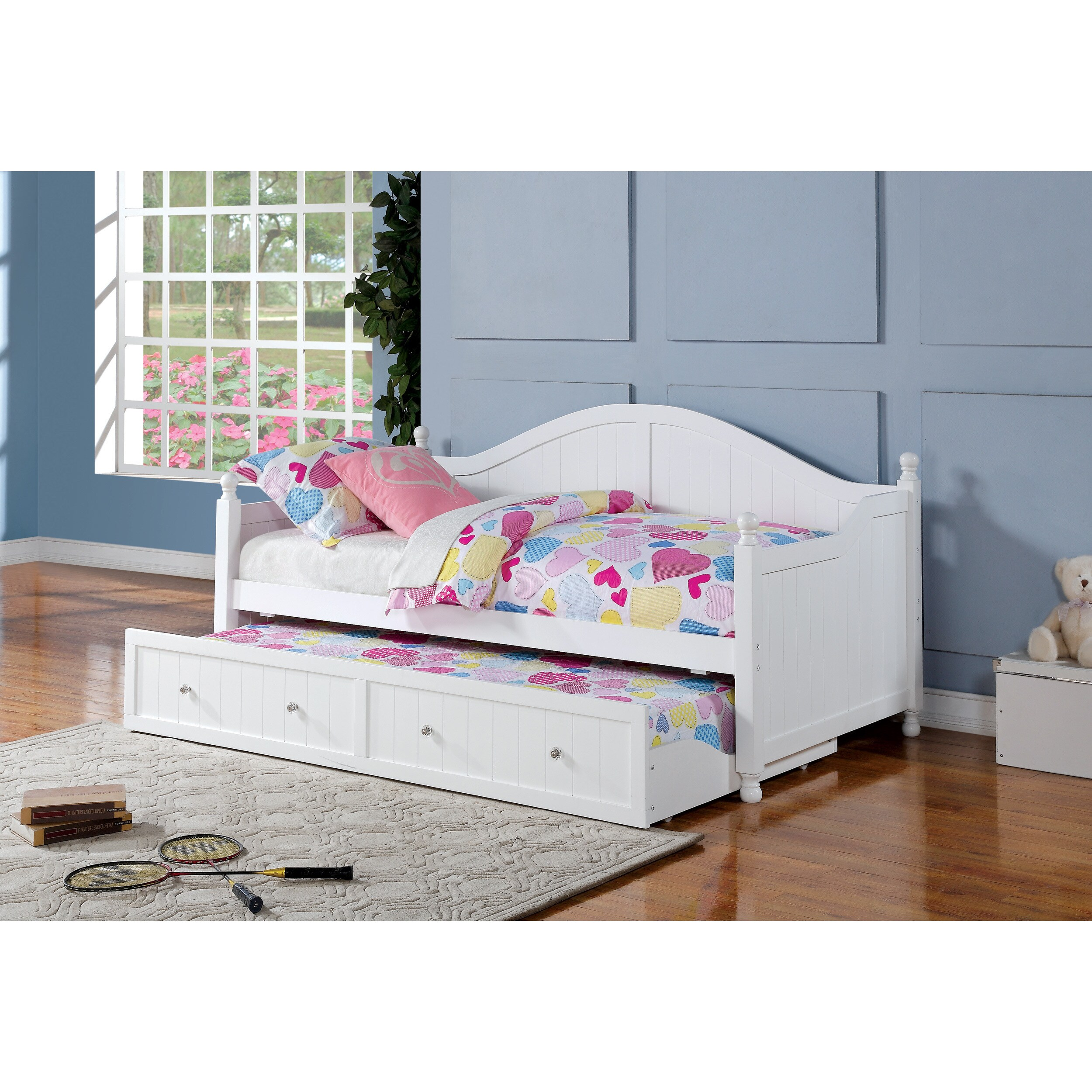- Shop Coaster Company White Wood Twin-size Trundle Daybed