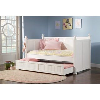 Coaster Company Fine Furniture Wood Daybed with Trundle (White Finish) Twin Size