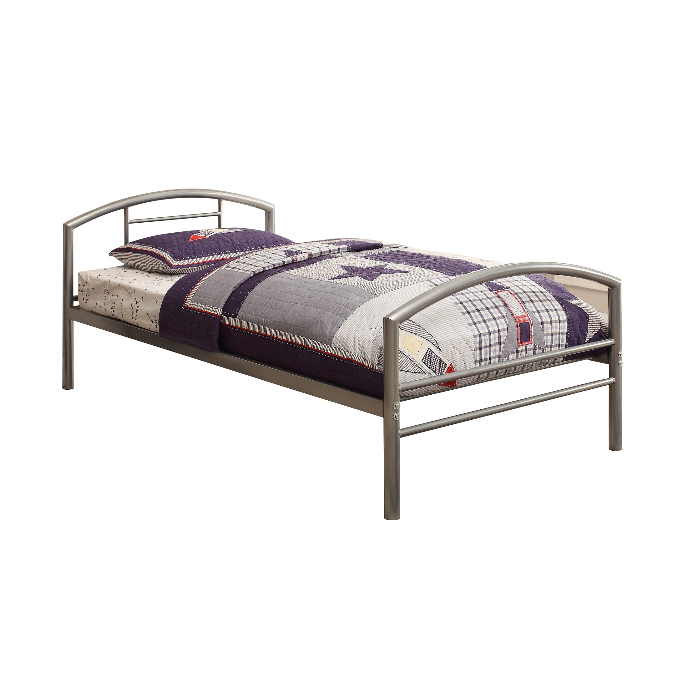 Coaster Furniture Baines Silver Twin Bed (Twin BED)