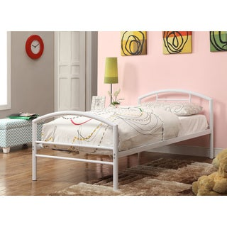 Baines White Metal Twin Bed