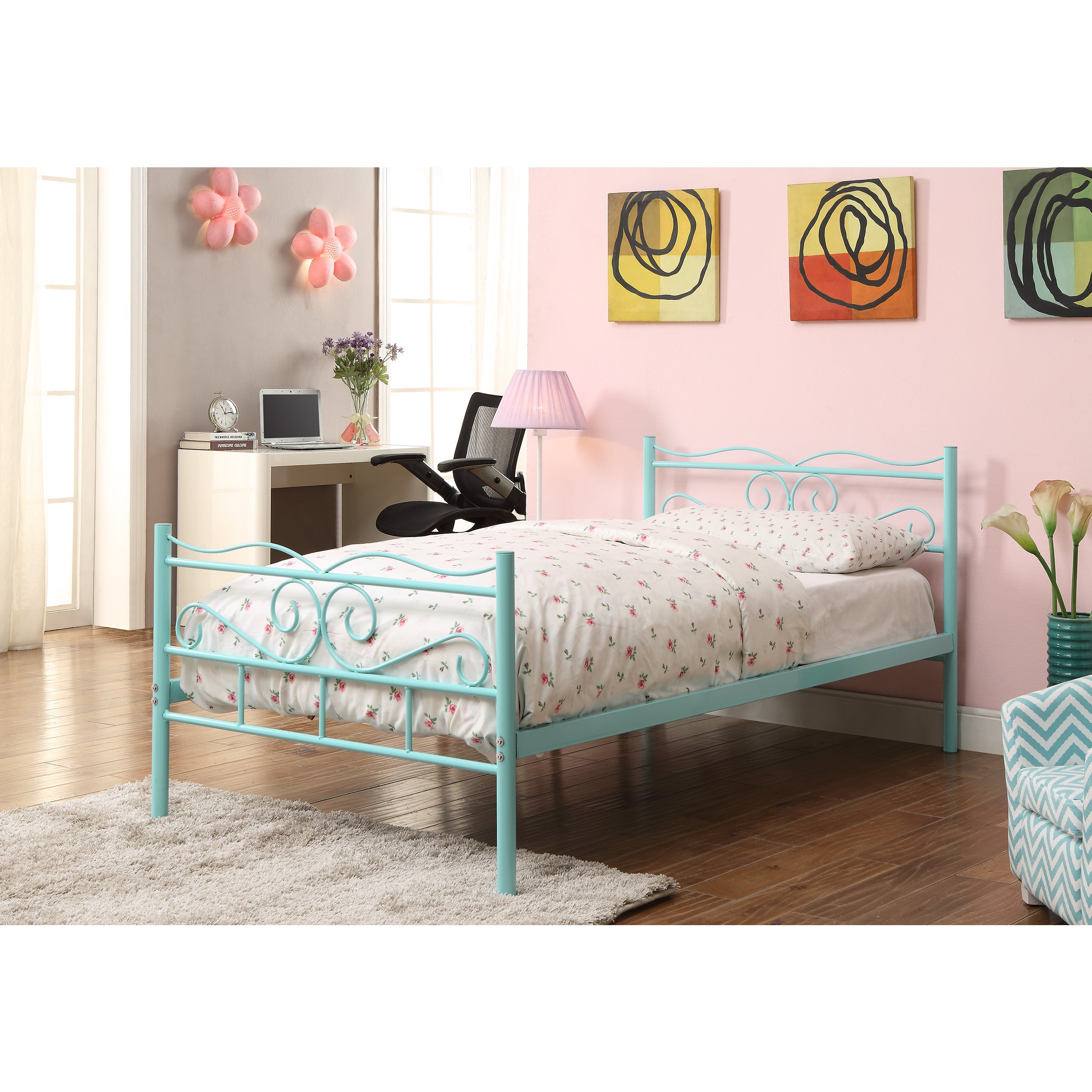 Coaster Company Imelda Bailey Metal Twin Bed Mint Green Overstock 12355274