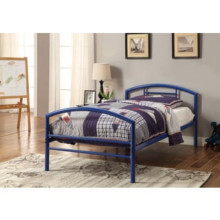 Baines Blue Metal Twin Bed