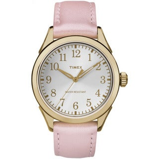 Timex Women's TW2P991009J Briarwood Terrace Light Pink Leather Strap Watch