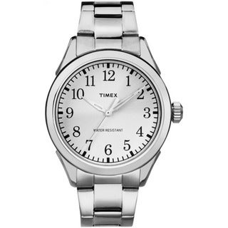 Timex Men's TW2P998009J Briarwood Terrace Silvertone Stainless Steel Bracelet Watch - WHITE