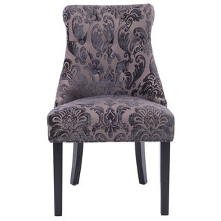 HD Couture Madison Brown Mink Fan Damask Rollback Chair